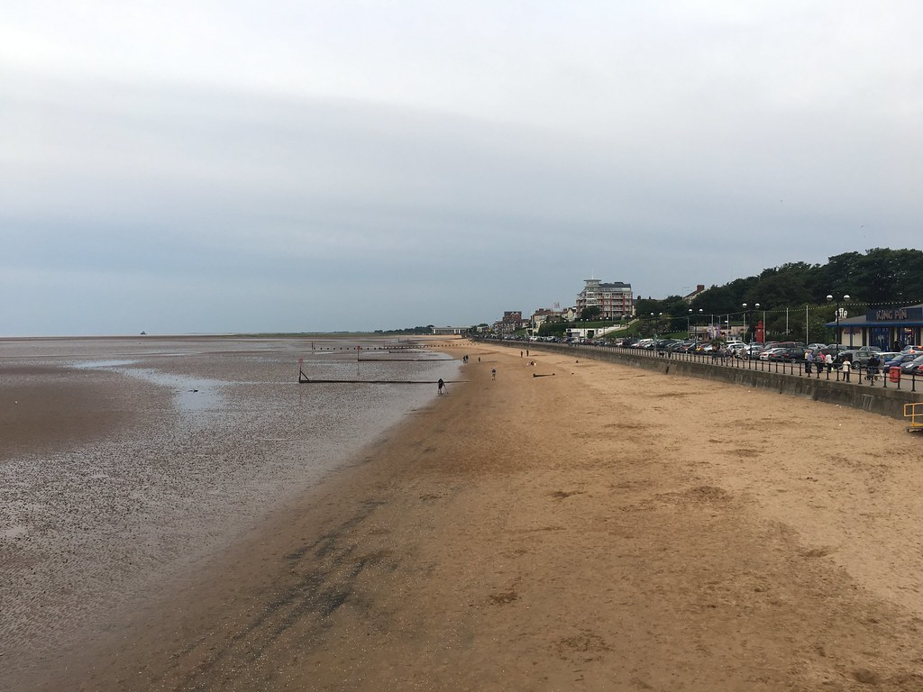 Cleethorpes beach from the pier