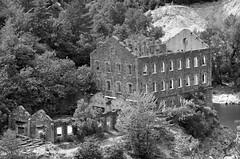 Une époque oubliée. (maxguitare1) Tags: miniera mine mina noiretblanc blackandwhite rovina ruin ruine ruina nikon france gard ardèche batiment architecture