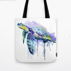 Watercolor Sea Turtle Tote Bag (marianv2014) Tags: seaturtle watercolor painting watercolour aquarelle animalart animals reptile reptiles reptileart purple blue orange drippingpaint profile underwater sealife wallart watercolorpainting seaanimals swim shell walldecor turtleposter turtleart roomdecor artistic decor artgifts affordableart splatters creatures watercolorposter wildlifedecor beautiful illustration artwork art animal whitebackground wild zoology single tote bags