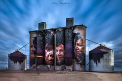 Sheep Hills Silo Art (Rob Reaburn Photography) Tags: silo mural wimmera tourism siloart indigenous sheephills rural mattadnate victoria australia longexposure grain farming art
