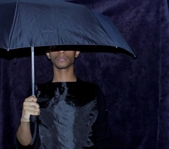 The inner umbrella (Neo-noir) Tags: september selfportrait dada dark umbrella me face poet dream poesia poetry sleep october