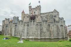 Gravensteen - Castle of the Counts - Ghent, Belgium-01800 (gsegelken) Tags: moat gravensteen belgium castle castleofthecounts ghent vantagetravel
