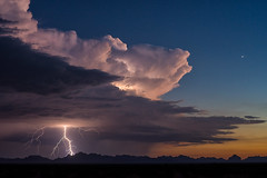 A Light to Burn All the Empires (NicLeister) Tags: arizona thunderstorm monsoon lightning sunset mountains desert nature sony alpha a99 landscape storm weather stormscape summer southwest clouds