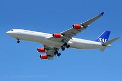 SAS   LN-RKF (j.scottsfolio) Tags: lnrkf sas godfredviking a340 quadjet plane airplane landing scandinavianairservice sfo t5i aviationphotography spotter