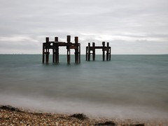 Remains. (awphoto3) Tags: rusty structures coast longexposure lepe solent ww2 jetty lumix gx80