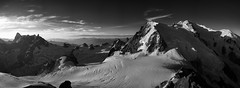 Mont-Blanc massif (ChristianMandel) Tags: montblancmassif glacierdugéant montblancdutacul montblanc panorama mountains glacier blackandwhite bw ilce7iii sonya7iii sonnartfe35mmf28za grandesjorasses