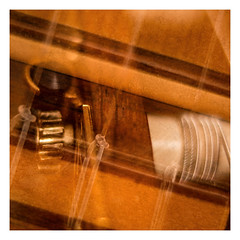 My guitar (Werner D.) Tags: guitar gitarre mehrfachbelichtung details availablelight wernerd multipleexposure