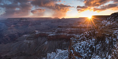Yavapai Point, Grand Canyon National Park (Brandon Kopp) Tags: 1635mm arizona d750 grandcanyon nationalpark nature nikon outdoor panorama snow sunrise travel vacation cloudy yavapaipoint grandcanyonvillage february landscape landscapephotography
