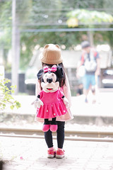 Kanchanaburi, Thailand - August 26, 2018 : A photo of unidentifi (enchanted.fairy) Tags: action actress animation backpack bag beautiful cartoon ceremony character child consumer disney editorial entertainment fame female figure girl girlish happy hollywood illustrative japanese japanesegirl kawaii kindergarten kindergartenkids lady little love mickey minnie minniemouse mouse object photograph pink pop product red star station store toy train up usa wait walk white