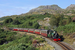 'Linda' at Tanygrisiau 30th August 2018 (John Eyres) Tags: fr hunslet linda approaching tanygrisiau with first train day 300818 ffestiniog
