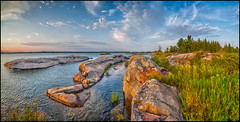 Outer Foxes Evening Light (Rodrick Dale) Tags: outer foxes evening light georgian bay lake huron ontario canada granite geology water sky cloud