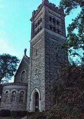 Twilight at Dewitt Park (LJS74) Tags: ithaca stonebuilding architecture historicbuilding church dewittpark firstpresbyterianchurch softlight bluehour twilight