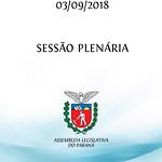 Sessão Plenária 03/09/2018