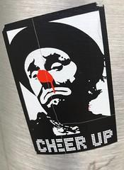 Cheer Up (rabidscottsman) Tags: scotthendersonphotography sticker graffiti streetsticker cheerup clown frown rednose mn minnesota stpaulminnesota monday laborday labordayweekend minnesotastatefair greatminnesotagettogether appleiphone ios iphone8 greatminnesotasweattogether sad