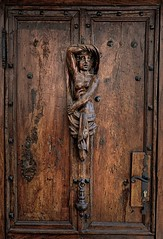 """Charming Girl"" (Eric@focus) Tags: door halfnaked woman pose knocker massive provence figure heurtoir breasts charminggirl"