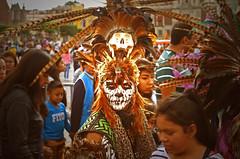 Mexica IV (Harry Szpilmann) Tags: azteca warrior mexica diademuertos cdmx skull mexico streetphotography people portrait mexique fiesta