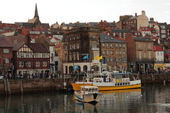Whitby Harbour (Mike.Dales) Tags: whitby harbour boats riveresk northyorkshire england rooftops