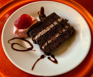 Chocolate Layer Cake with Strawberry Cream
