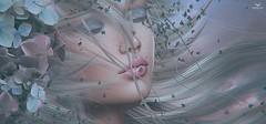 Dee~BirthdayBeauty (Skip Staheli *10 YEARS SL PHOTOGRAPHER*) Tags: dreamy delindastaheli delindadench skipstaheli secondlife sl avatar virtualworld digitalpainting autumn flowers blonde breeze hair wind portrait headpiece headshot closeup