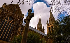 pointing the way to heaven (andrew.walker28) Tags: st peters cathedral adelaide south australia church religion spire cross symbol