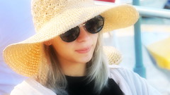 Beauteous Artist (endresárvári) Tags: croatia hungarian hungariangirl teen sunglass beautiful teengirl pretty strawhat hat lovely charming beauty nice young younglady