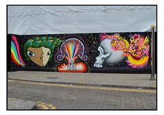 STREET ART by MOWCKA, ORBIT & APPARAN. (StockCarPete) Tags: apparan orbit mowcka streetart londonstreetart graffiti urbanart crony croydon croydonrising london uk