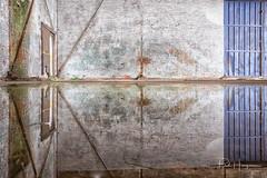 Industrial - reflected @ Breda (PaulHoo) Tags: fujifilm x70 urbex decay breda bredaphoto vintage 2018 wall brick interior industrial reflection lines pattern texture shape diagonal