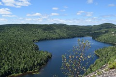 (jasminedeslauriers) Tags: water eau chutes waterfall lac lake green vert bleu blue paysage landscape hike hiking randonnée