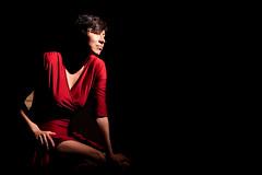 Red (Daniel Medley) Tags: beautiful woman portrait sexy low key off camera flash red dress nikon 50mm18g d750