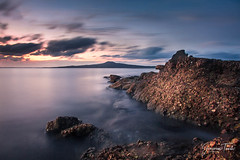 RIDGE (Cor Lems) Tags: glow sea beach landscape winter stheliers pink ocean newzealand sunset seascape landscapes longexposure auckland rocks
