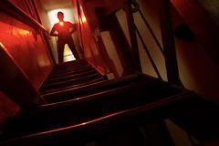 Acid Reflux. (darrenhopkins) Tags: nophotoshop torch white red stairs sonya7iii lightpainting ledlenser