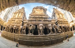 DSC_6308-3 (Ranjith_july) Tags: architecture archaeology paintings carvings india fisheye traveller wanderlust maharashtra aurangabad sky lowlight structure caves ellora ancient history buildings