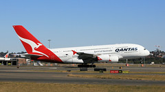 Qantas A380 (2/2) (Jungle Jack Movements (ferroequinologist)) Tags: qantas botany bay mascot sydney international kingsford smith vh oqi david warren airbus a380 singapore 34l 16r nsw new south wales australia fly flying flown trip passenger wing airborne rapid takeoff land touchdown jet airplane aeroplane aircraft journey aerial inflight landing plane airliner airport wind sky turbulence aisle window captain crew terminal gear 飞机飛行機 самолет aereo avion aerobatics squadron raaf fuselage altitude pilot navigator radar