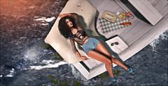 go away (UGLLYDUCKLING Resident) Tags: secondlife sl avi avatar brunette hair girl virtual world scenery lake water splash bee picnic boat summer sun hot ugllyduckling maitreya catwa lookatme scandalize vanityhair