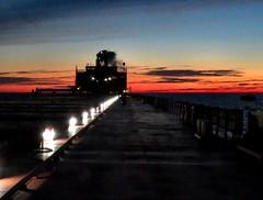 Deck Lights & Lake Superior Blue Hour (knutsonrick) Tags: lakesuperior biglake crisppoint bluehour americansteamshipcompany asc lakerboat mvamericanspirit taconitepellets uss zugisland greatlakesworks