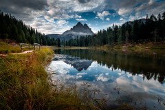 Mirrored.... (Croosterpix) Tags: landscape nature lake reflection mirrored mountains water sky clouds dolomiti dolomites