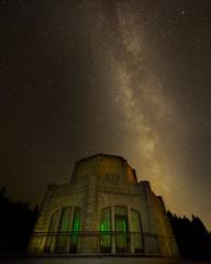 Vista House Milky Way D (jim.choate59) Tags: green vistahouse milkyway stars nighttime jchoate on1pics d610 columbiarivergorge historiccolumbiariverhighway historic portlandoregon