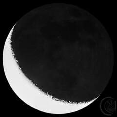 17.6% Waning Crescent Moon [2018.09.06] with Earthshine (1CM69) Tags: 1cm69 750d as3 astrophotography autostakkert canon canon750d celestron celestroncpc925 cpc925 earthshine exiftool exmoor geosetter kjevans luna lunar lune moon photoshop starizonamicrotouchautofocuser waningcrescent twitchen england unitedkingdom gbr