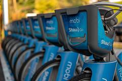 Mobi Bike Share Baskets (paul.wasneski) Tags: vancouver britishcolumbia canada ca bikeshare bicycle bike transportation mobility shawgo mobi mobibikeshare mobibikes cyclehop