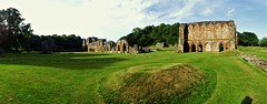 Abbey panoramic from SW corner (eucharisto deo) Tags: furness abbey lakes lake lakes18 district cumbria lancashire monastery monastic ruins ruin dissolution henry viii cistercian panoramic panorama