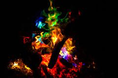 Colored Camp Fire (betadecay2000) Tags: feuer vuur fiere fire feu fugo fuego brand brennen verbrennen kupfersalze blau green grün gruen blue red rood rot orange yellow farben bunt color flames flamme flammen flame colour colours lagerfeuer campfire camp schwerzerhintergrund