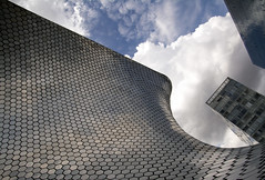 Curves Corners Rectangles Lines and Clouds (Texaselephant) Tags: museosoumaya mexicocity clouds museo museum building hexagons hexagon cdmx