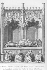 ca. 1485-1492 - 'Florimond de Villers-Saint-Paul (+1472)', Abbaye Saint-Lucien, Beauvais, Église Sainte-Maure-et-Sainte-Brigide, Nogent-sur-Oise, dép. Oise, France (RO EL (Roel Renmans)) Tags: 1472 1473 1485 1492 florimond de villers saint paul église sainte maure brigide nogentsuroise oise picardy picardie beauvais lucien st abbaye abbey abtei effigy efigie tomb dalle funéraire tombale pierre gisant grabmal armor armour france standard plate armadura rüstung armatura knight chevalier ritter ridder grafmonument tabard doublet cushion gaignières mail skirt maille cotte chain heraldic church monument kirche kerk iglesia tassets poleyn greave bear paw sabaton roel renmans