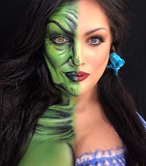 By @natzbuzz (ineedhalloweenideas) Tags: halloween makeup make up ideas for 2017 happy night before christmas october 31 autumn fall spooky body paint art creepy scary horror pumpkin boo artist goth gothic amazing awesome