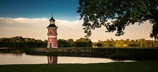 evening at the light house of Moritzburg