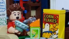 Breakfast (eddiemck123) Tags: lego minifigure moc toy breakfast food meal cereal cornflakes orangejuice