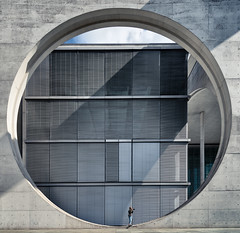 Shooter (Sean Batten) Tags: berlin germany de europe nikon d800 1424 circle architecture building city urban marieelisabethlüdershaus wideangle photographer lines curves person