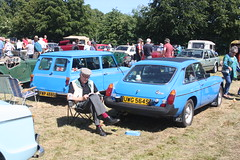 British Leyland Pageant Blue. Moffat Classic Car Rally 2018. (Yesteryear-Automotive) Tags: british leyland mg mgb gt mini clubman estate moffat classic car show rally weekend scotland 2018 pageant blue