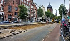 Grachtgravers (Peter ( phonepics only) Eijkman) Tags: amsterdam city tram transport trams tramtracks trolley rail rails strassenbahn streetcars gvb roadworks wegwerkzaamheden omleiding detour netherlands nederland nederlandse noordholland holland