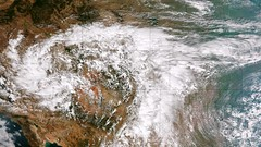 NOAA satellite image captures 'biblical' storm as it strikes Colorado. Image taken on September 11, 2013 as the storms were getting started. (NOAA)